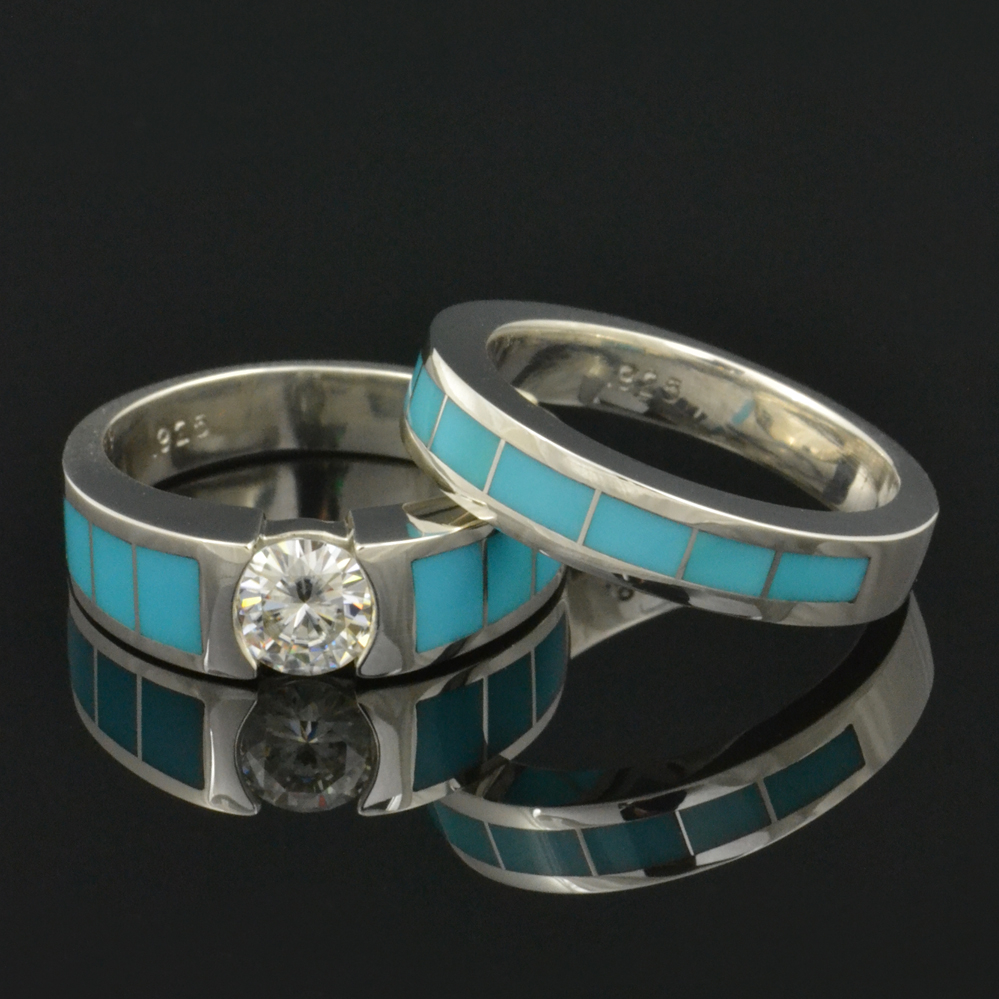 turquoise jewelry and rings | hileman silver jewelry