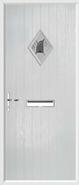 Cottage Diamond Composite Door monza glass