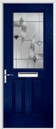 2 Panel 1 Square Composite Door monza glass