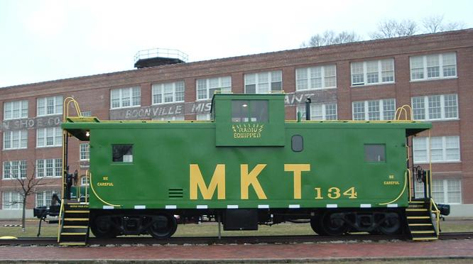 M-K-T No. 134 on static display in Boonville, Missouri. Photo by John Cornett.