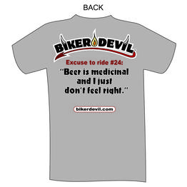 Biker Devil, Inc. - Excuse T-shirt #11