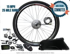 Front wheel electric bike conversion kit