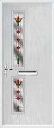 2 Square Composite Door fleur-de-lys glass