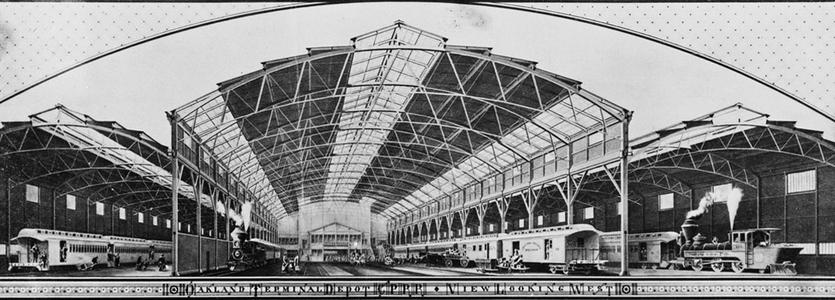 Survey Drawing of the Oakland Mole Terminal Building Roof Structure, 1882. Library of Congress.