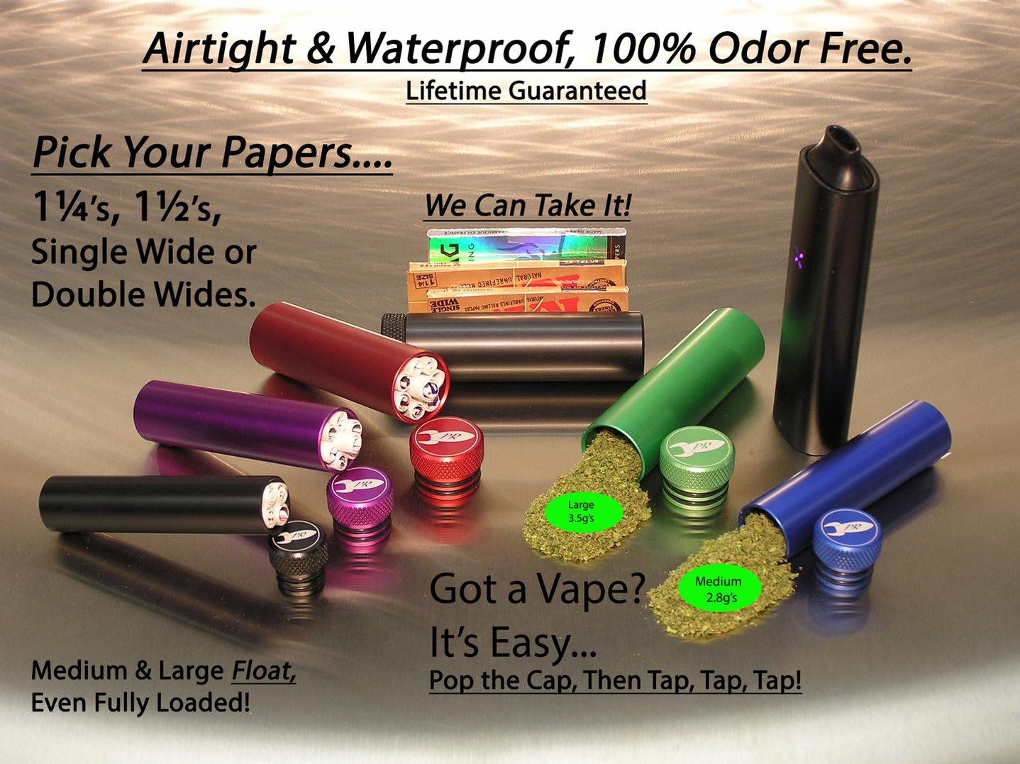 Pocket Weed Containers, Waterproof Odorless Marijuana Stash