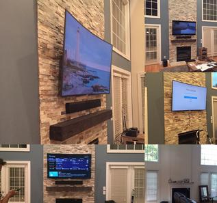TV Mounting ideas,Charlotte, NC | Home Theater | Wireless ...