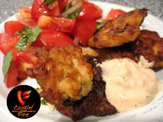 COF Cheesy Chicken Fritters with Floribbean Mayo-Chef of the Future-Your Source for Quality Seasoning Rubs