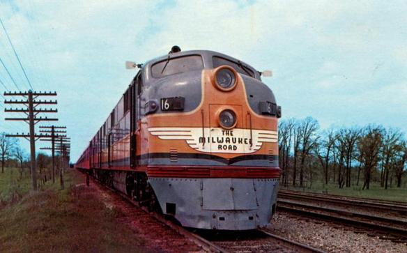 "The Milwaukee Road's ""Afternoon Hiawatha""."