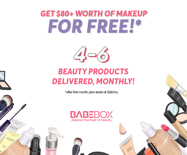 Free babe box makeup $80 value