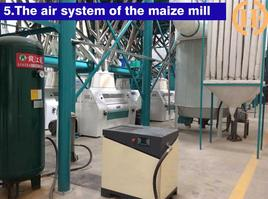 air system for this maize mealie meal machine