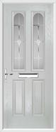 2 Panel 2 Arch Composite Door sandblast glass