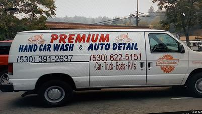 Premium Auto Detail Hand Car Wash Van