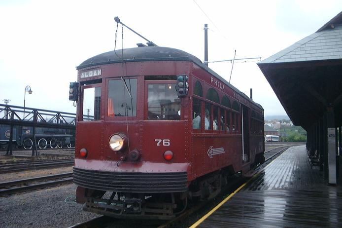 Car 76, built in 1926 by Brill, at the Electric City Trolley Museum, in Scranton, PA.