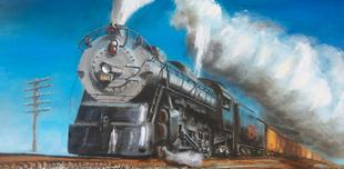 steam train painting
