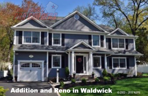 Home addition in Waldwick