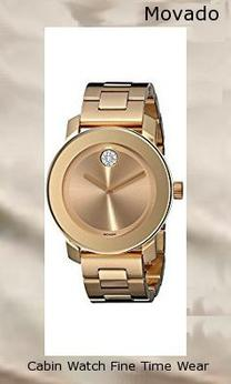 Product Specifications Watch Information Brand, Seller, or Collection Name Movado Model number 3600104 Part Number 3600104 Item Shape Round Dial window material type Mineral Display Type Analog Clasp deployant-clasp Case material Stainless steel Case diameter 36.3 millimeters Case Thickness 9 millimeters Band Material Gold-plated stainless steel Band length Women's Standard Band width 18 millimeters Band Color Gold Dial color Gold Bezel material Stainless steel Bezel function Stationary Movement Swiss quartz Water resistant depth 99 Feet