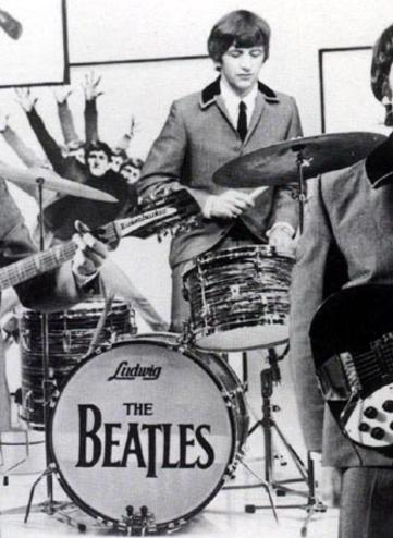 Beatles Are In The Mock Recording Studio Miming To Youre Going Lose That Girl This Drumhead Has Never Been Offered Up For Auction By Any Of