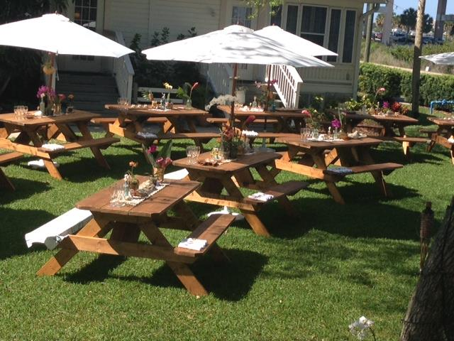 WOOD PICNIC TABLE RENTALS - Picnic table los angeles