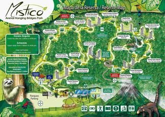 Mistico Arenal Hanging Bridges Trails Map