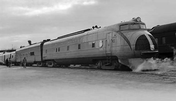 Union Pacific Railroad diesel-electric streamliner M-10002.