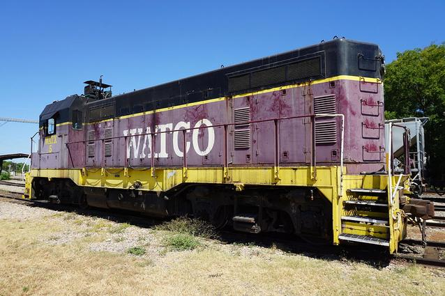 Watco CF7 No. 5 at Pittsburg, Texas in August 2015.