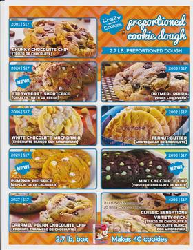 $10 Cookie Dough Fundraiser Brochure