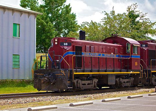 Arkansas and Missouri Railroad ALCO T-6 No. 16.