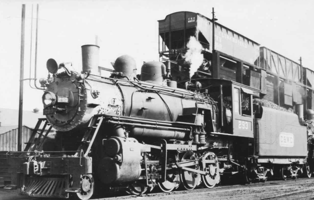 Charleston and Western Carolina 2-8-0 no. 293, circa 1940s.