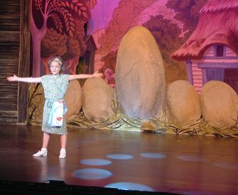 Cast member on stage