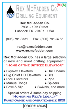 Rex McFadden, Water Well Products