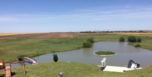 Geothermal Pond Dump Installation Weber Refrigeration Dodge City, Ks
