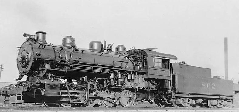 Chicago and Illinois Western Railroad 0-8-0 locomotive No. 802.