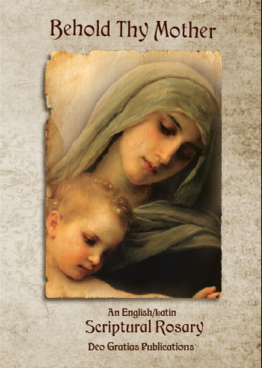 The cover of our scriptural rosary book