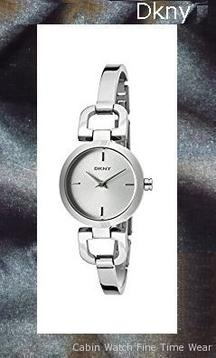DKNY Women's NY8540 READE Silver-Tone Watch
