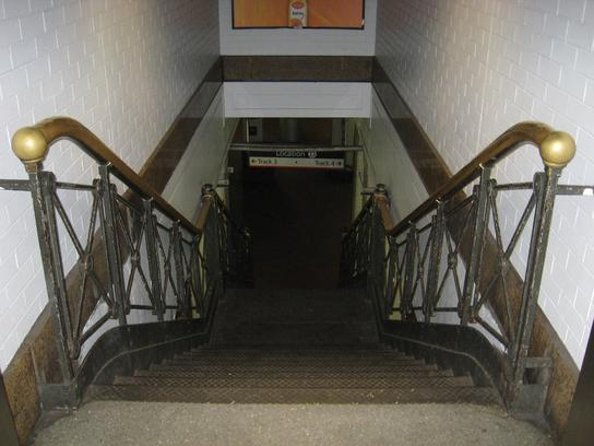 One of the last remnants of the original Penn Station, a staircase between tracks 3 and 4.