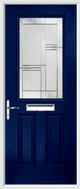 2 Panel 1 Square Composite Door regal corenet glass