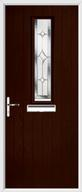 1 Square Composite Door regal sapphire glass