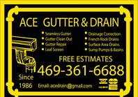 Free estimates on gutter repair,new gutter,and drainage!