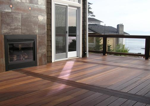 Red Balau Mahogany Hardwood Decking is perfect for seaside applications
