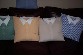 Dress shirt memory pillow
