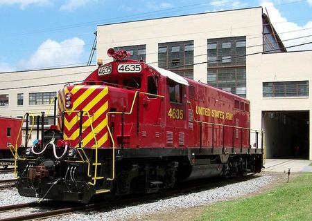 CSX sold many GP16's to the U. S. Army (AAR reporting mark USAX) and today No. 4635 serves at Fort Eustis, VA.