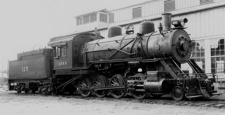 An Ashley, Drew and Northern Railway 2-8-0.