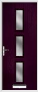 3 Square Composite Door obscure glass