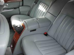 Inside Phantom Rolls Royce Wedding Limousine