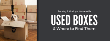 Packing a house with used boxes