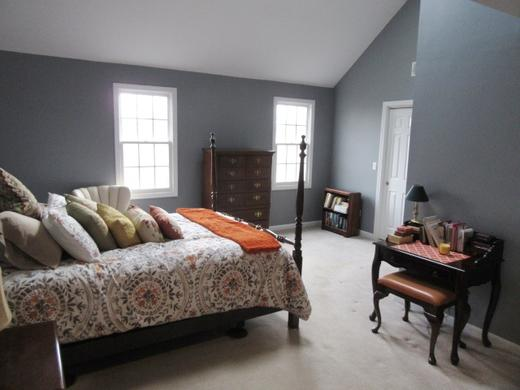 Recently painted master bedroom in Plainville, MA.