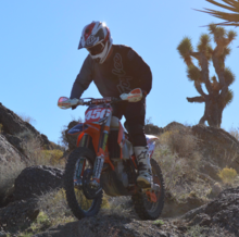 A man participating in dirt bike tours in Las Vegas, NV