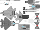 free paper airplane template of Lockheed YF-22