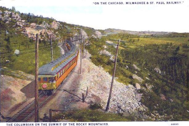 Post card depiction of the Milwaukee Road's Columbian, circa 1927.