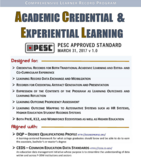 Academic Credential & Experiential Learning Standard PESC Approved Standard March 31, 2017 | PESC Competencies & Credentials User Group | By the Community. For the Community. Not for Profit. | Join PESC as a Member or Sponsor! | PESC's Academic Credentialing and Experiential Learning Task Force